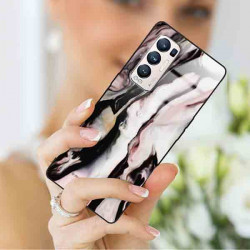 ETUI BLACK CASE GLASS NA TELEFON OPPO RENO 5 PRO PLUS ST_MARM-2021-3-106