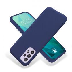 ETUI GUMA SMOOTH NA TELEFON SAMSUNG GALAXY A72 / A72 5G GRANATOWY