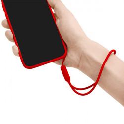 SMYCZ GUMOWA UNIWERSALNA DO TELEFONU / ETUI CZERWONY