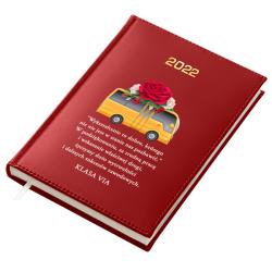 KALENDARZ KSIĄŻKOWY NA 2022 ROK A5 CZERWONY B26