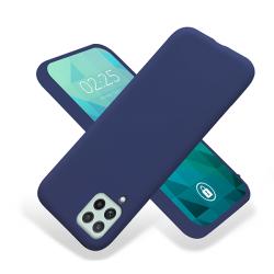 ETUI GUMA SMOOTH NA TELEFON SAMSUNG GALAXY A22 4G GRANATOWY