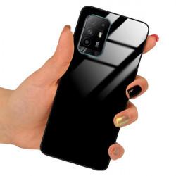 ETUI BLACK CASE GLASS NA TELEFON OPPO A95 4G / 5G CZARNY