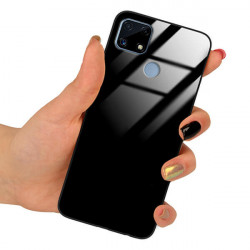 ETUI BLACK CASE GLASS NA TELEFON REALME C25 CZARNY