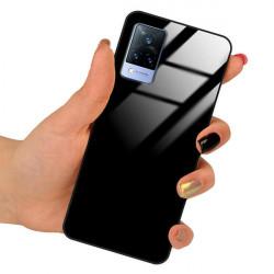 ETUI BLACK CASE GLASS NA TELEFON VIVO V21 CZARNY