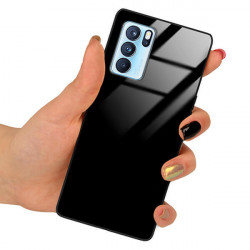 ETUI BLACK CASE GLASS NA TELEFON OPPO RENO 6 CZARNY